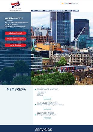 Diseño de web de camara de comercio paraguayo britanica