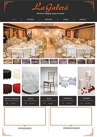 diseño web de empresa de alquiler de mobiliarios