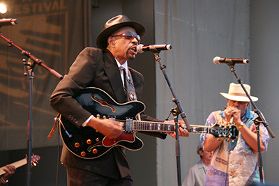 John Primer & Billy Branch at Chicago Blues Festival. Photo: Jennifer Noble