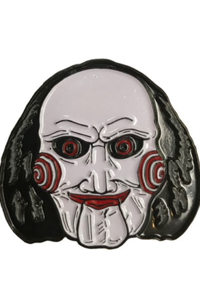 Trick or Treat SAW Billy the Puppet Jigsaw Horror Scary Movie Enamel Pin BXLG100