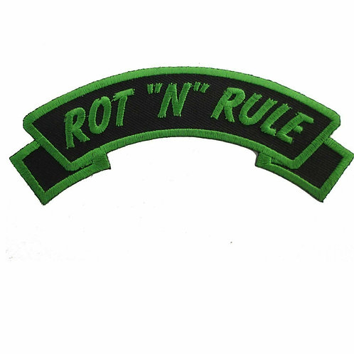 "ROT ""N"" RULE PATCH - Kreepsville 666 - deathrock horrorpunk psychobilly"