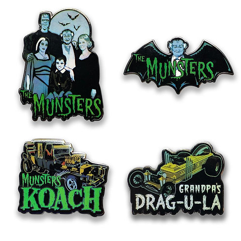 retro a go go The Munsters Enamel Lapel Pin set