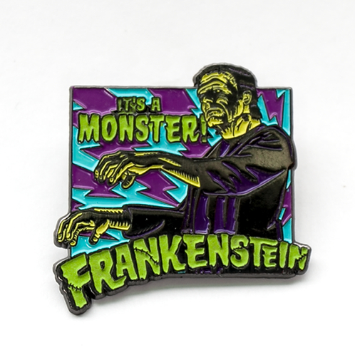 It's a Monster! Frankenstein Enamel Pin