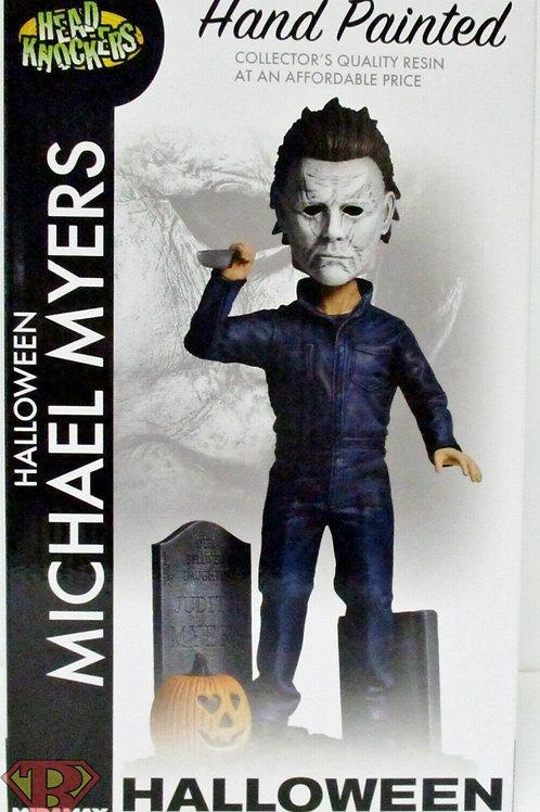 "MICHAEL MYERS Halloween 8"" inch Head Knockers Hand Painted Bobble Head Neca 2020"