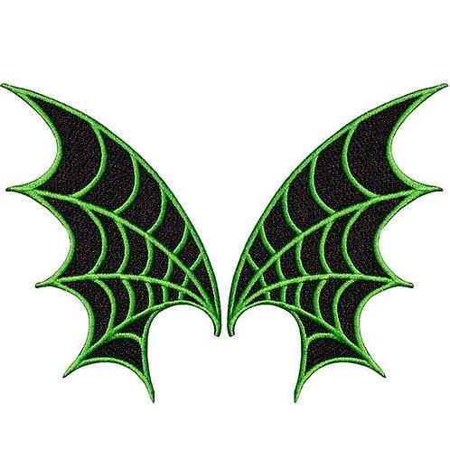 SKELLI BONES BAT PATCH green