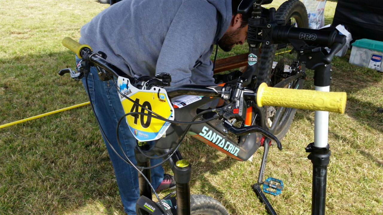 Cedric Gracia`s Bike at EWS #2