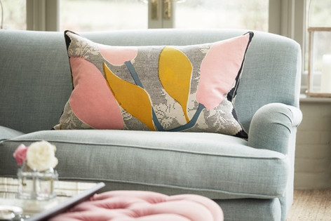 LARGE LACE LILY: Pink Ochre - cushion