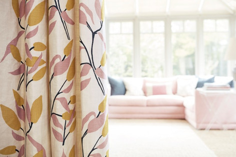 JOY: Pink Ochre - curtains