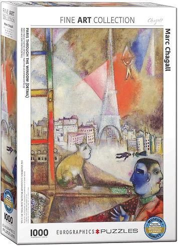 PARIS THROUGH THE WINDOW Puzzle 1000 pc.