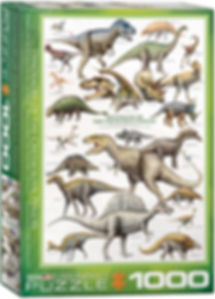 DINOSAURS OF THE CRETACEOUS Puzzle 1000
