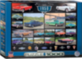 AMERICAN CARS OF THE 1950s Puzzle 1000 p