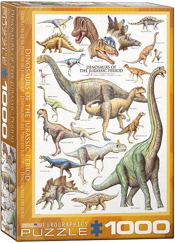 DINOSAURS OF THE JURASSIC Puzzle 1000 pc