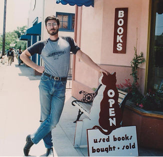 Aaron Rosewater at Levin & Company bookstore opening in 1991