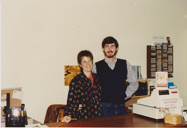 Adele Levin and Aaron Rosewater at Levin & Company in 1991