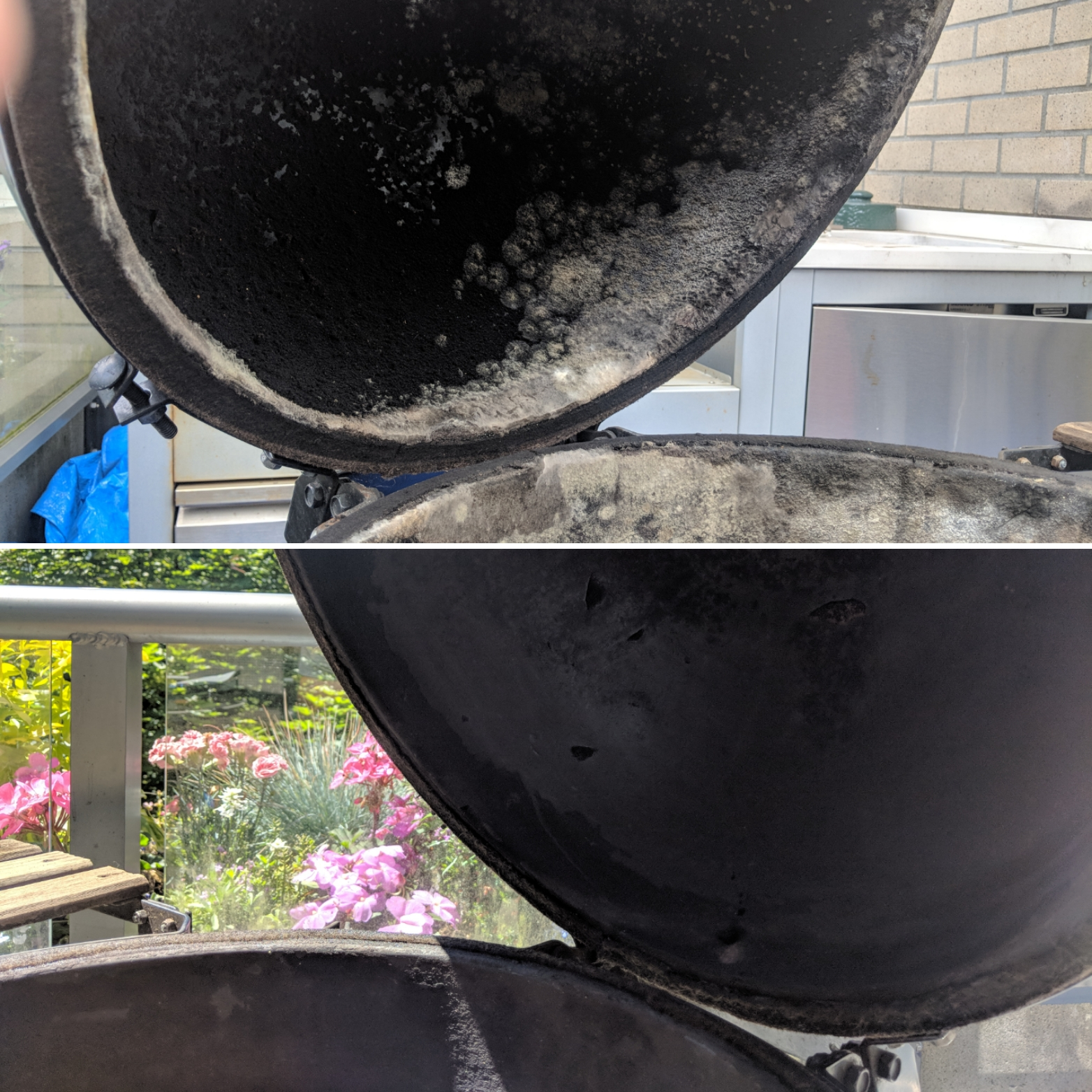 Before and After BBQ Steam Cleaning