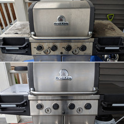 Before and After Grill Cleaning Service