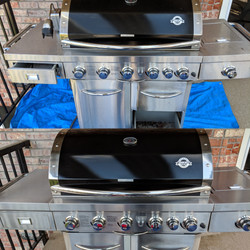 Steam Cleaning Outdoor Grill