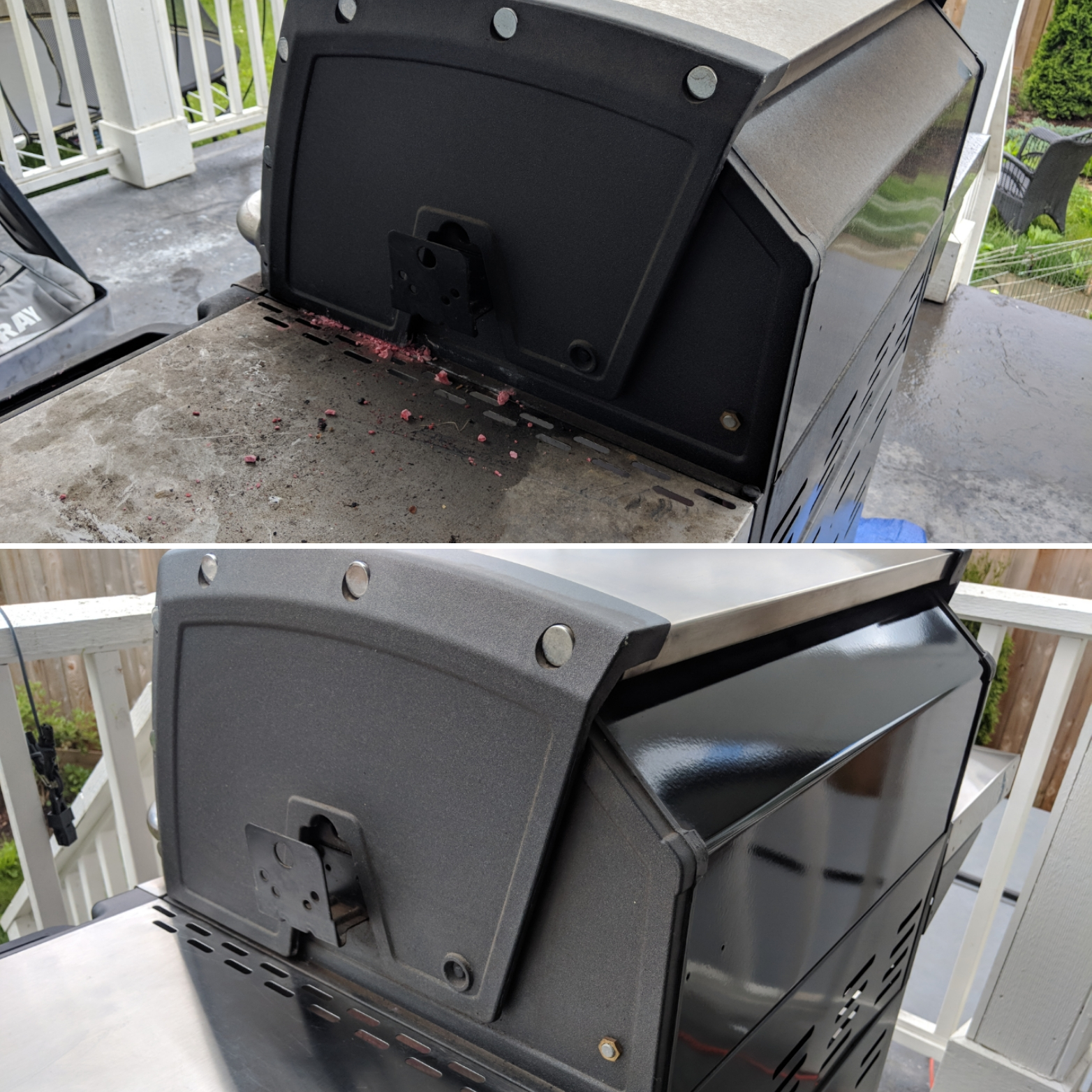 Before and After Grill Cleaning