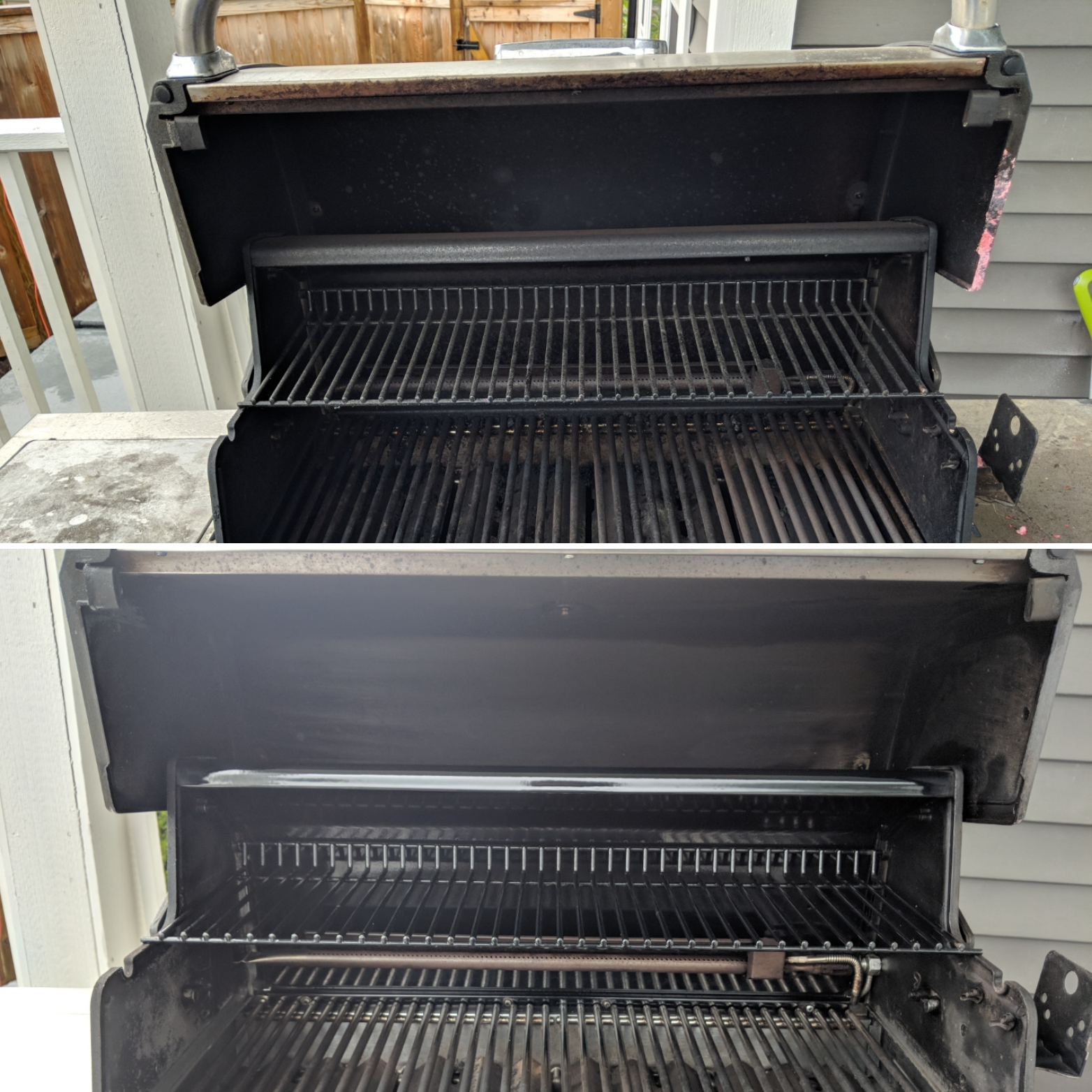 Before and After Grill Cleaning Services