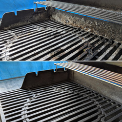 Grill Clean Before And After