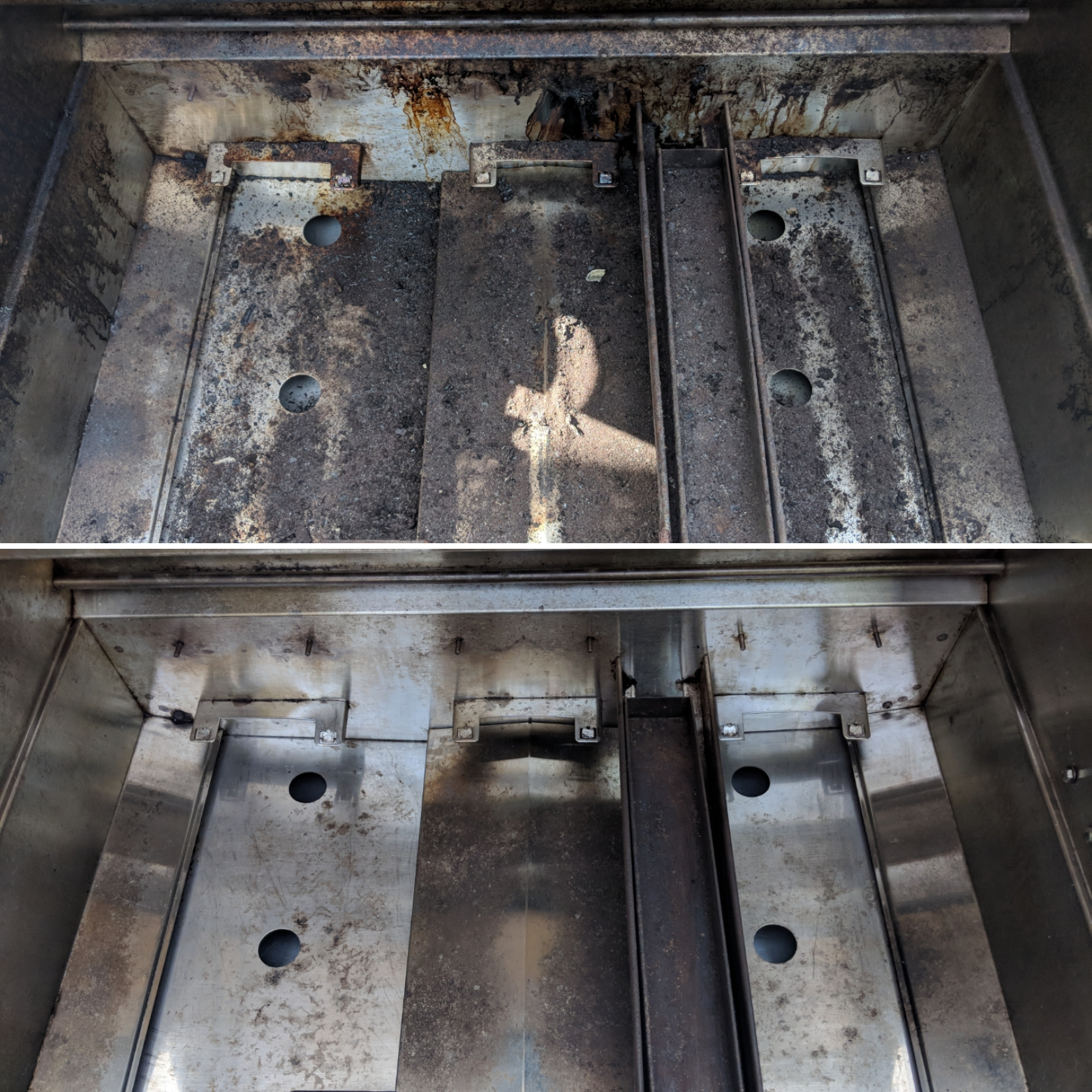 Before After Grill Cleaning