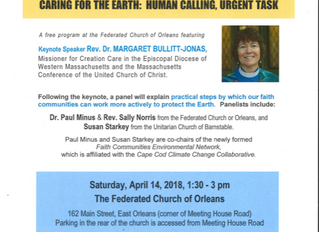 Caring for the Earth: Human Calling, Urgent Task