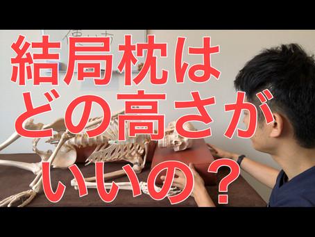 【枕】の正しい高さとは?!