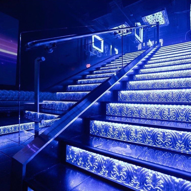 Stairwell To Top Lounge