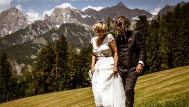 Hochzeitsfotografie auf einer Alm