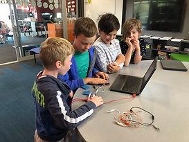 Children at code club