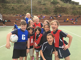 Children at Netball Western Zones competition