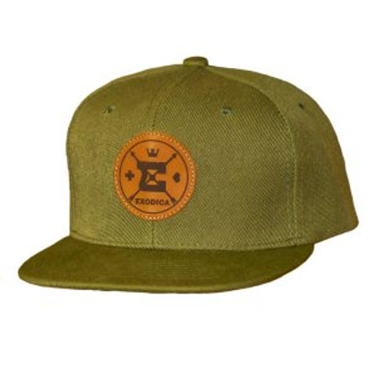 Exodica Round up leather logo Olive