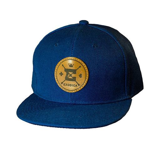 Exodica Round up leather logo Snapback Hat