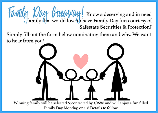 Family Day Giveaway