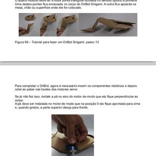 Tutorial para fazer um robô de origami com Arduino, capítulo do meu mestrado