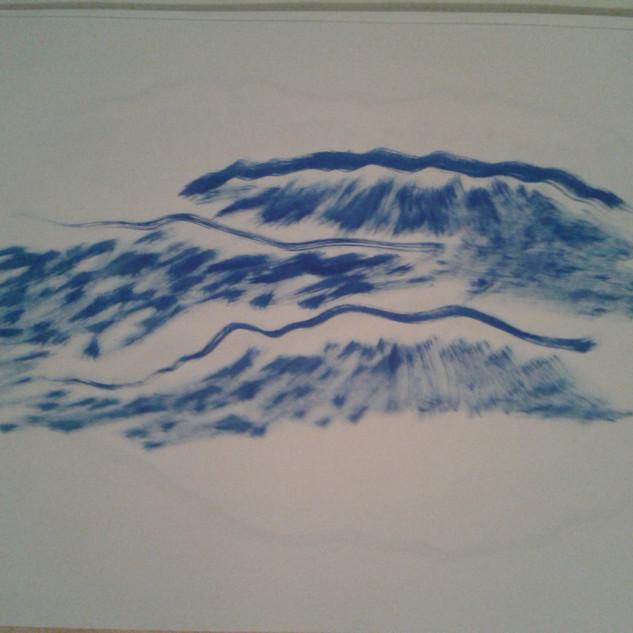 Três Linhas para um Mar, série de desenhos