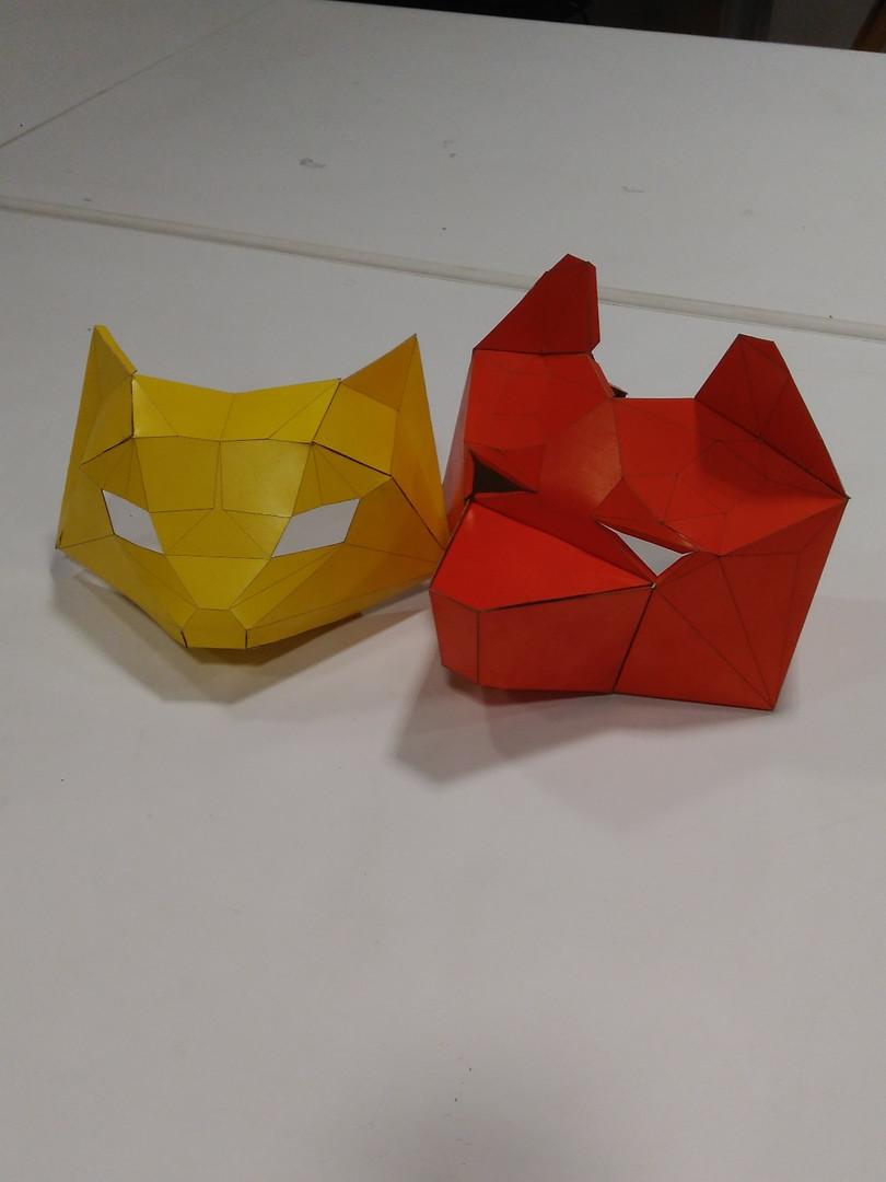 Máscaras Low Poly