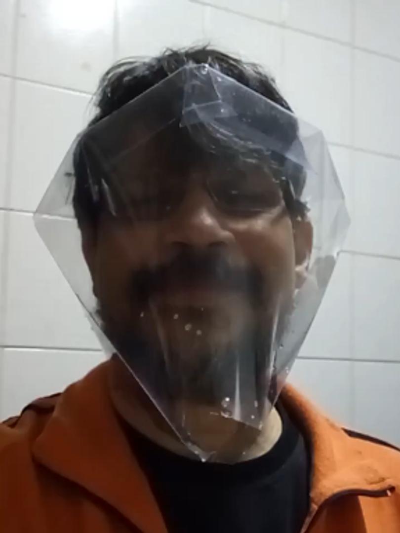 ACEshield, o faceshield dobrável de acetato