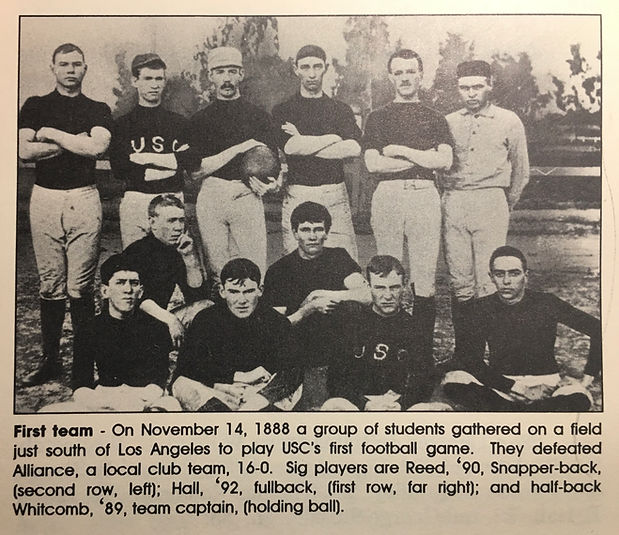 First Trojan football team had 3 Sigs:fo