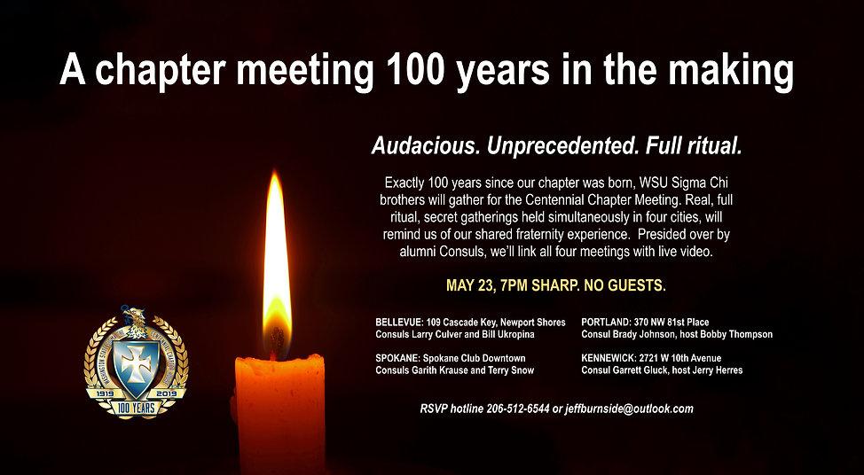 Centennial Chapter Meeting invitation la