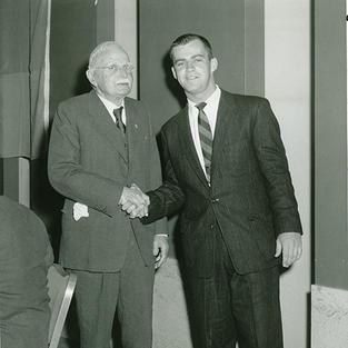 "AU's ""first initiate"" Don Carlos Porter (AU 1893) meets 1957 initiate Robert Lee Waller"