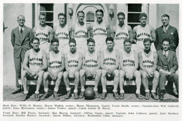 Johnny Lehners team photo group 1930 cro