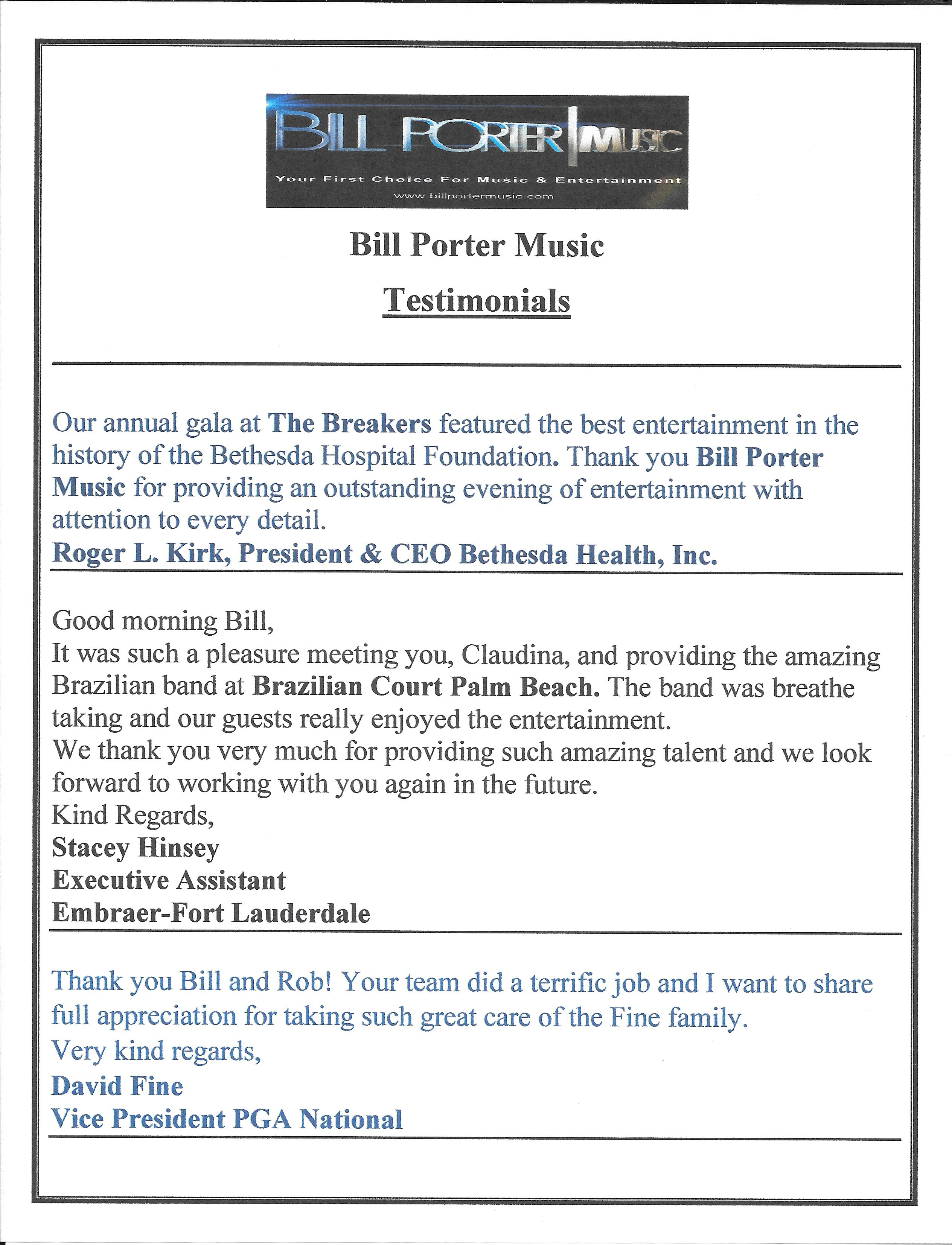 BPM typed testimonials page 1