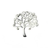 "STERLING SILVER TREE OF LIFE PENDANT ON 18 "" STERLING SILVER CHAIN"