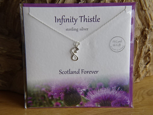 INFINITY THISTLE CARD & PENDANT