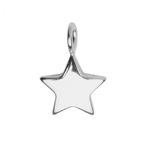 STAR SHAPED PENDANT / CHARM IN STERLING SILVER