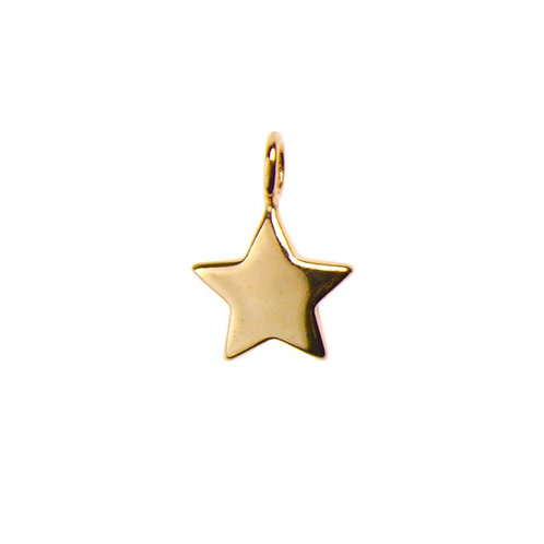 ROSE GOLD PLATED VERMEIL STS STAR SHAPED PENDANT / CHARM