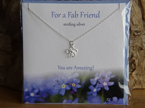 FOR A FAB FRIEND CARD & PENDANT