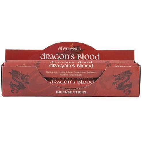 6 packs ELEMENTS DRAGON'S BLOOD INCENSE STICKS