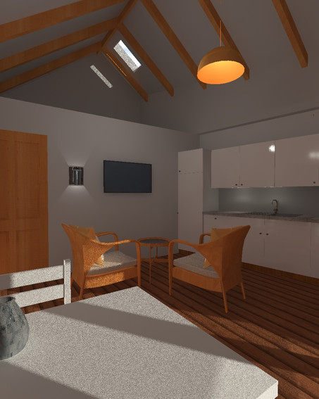 Living space interior of new build annexe